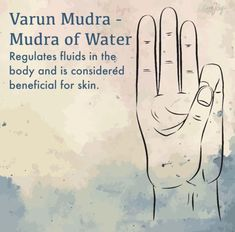 Varun Mura for fluid regulation Pranayama, Chakra Meditation, Mindfulness Meditation, Brain Yoga, Hand Mudras, Yoga Mantras, Acupressure Points, Spiritual Practices, Auras