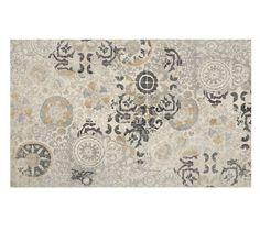 Talia Printed Rug - Gray $799 5'8' hand-woven wool
