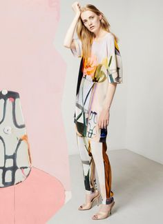 Fresh Prints and Colors . Stine Goya ss15 collection with Danish artist Erik A. Frandsen