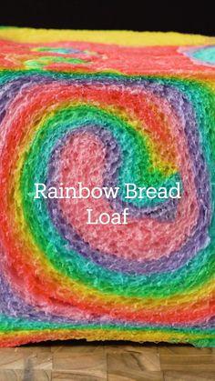 Fun Baking Recipes, Bread Recipes, Cake Recipes, Dessert Recipes, Cooking Recipes, Rainbow Bread, Rainbow Food, Cute Food, Yummy Food