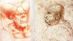 Leonardo da Vinci's Bizarre Caricatures & Monster Drawings