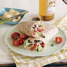 Greek-Style Chicken Wraps | CookingLight.com