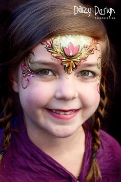 Daizy design face painting -- Anna; from Frozen