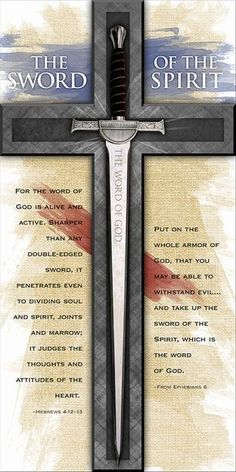 The holy sword of the spirit, the word of god if you will. Christian Warrior, Christian Faith, Christian Quotes, Warrior Quotes, Prayer Warrior, Scripture Quotes, Bible Scriptures, Sword Of The Spirit, Templer