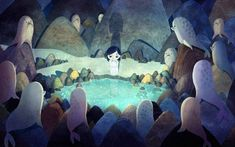 Song of the sea.A lovely tale of a boy and his sister who turns out to be a selkie.