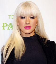 Christina Aguilera's Hair Evolution: September 25, 2008