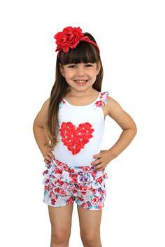 Ninali - Conjunto Menina Floral - compre em: www.pigchicbebe.com.br