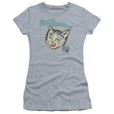 PUSS N BOOTS CATS PAJAMAS Juniors Sheer Cap Sleeve T-Shirt