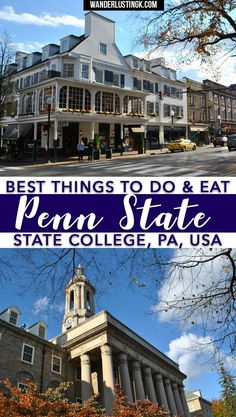 Attending PSU? A complete guide by a Penn State alum on where to eat, where to drink, fun things to do in State College, and day trips from Penn State ! #TravelDestinationsUsaNortheast