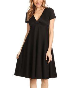 Black Empire-Waist Dress