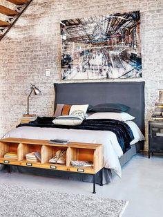 ¿Qué necesitas para darle un toque industrial a tu dormitorio?