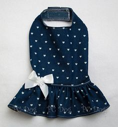 XXS New Jean and Hearts Denim Dog dress clothes pet apparel teacup puppy Girl Dog Clothes, Cute Dog Clothes, Doll Clothes, Dress Clothes, Dog Christmas Clothes, Dog Clothes Patterns, Dog Blanket, Pet Costumes, Heart Dress