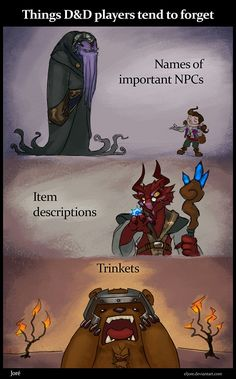 Things D&D Players Tend to Forget...