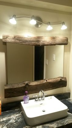 Mirror, Bathroom, Projects, Furniture, Home Decor, Bath Room, Log Projects, Homemade Home Decor, Mirrors