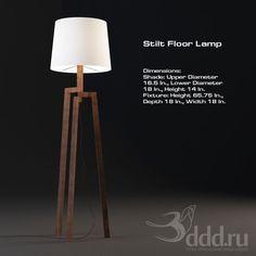PROFI Stilt Floor Lamp 3dsMax 2010 + fbx (Vray) : Floor lamp : 3dSky - 3d models