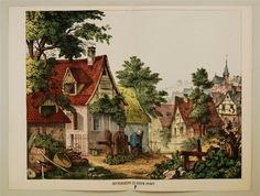 Hintergrund zu einem Dorfe. P.