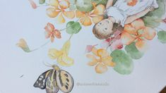 Touching up on a watercolor painting by using color pencils. Work in progress. Watercolor Flowers, Watercolor Paintings, Work In Process, Colored Pencil Tutorial, Botanical Drawings, Watercolor Illustration, Colored Pencils, Pencil Drawings, Autumn