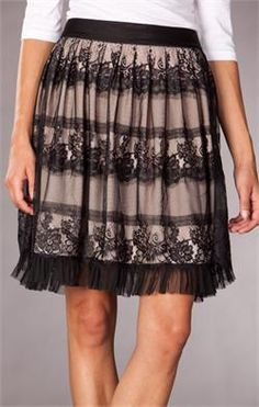 DownEast Vintage Lace Skirt $39. Love the lace look.