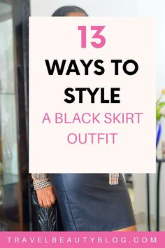 Black Skirt Outfits, Black Skirts, Simple Outfits, Casual Outfits, Summer Skirts, Womens Fashion For Work, All About Fashion, Comfortable Outfits, Everyday Outfits