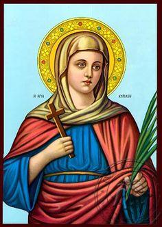 Αγία Κυριακή - Ναζαρινής Τέχνης Εικόνα - OramaWorld.Com
