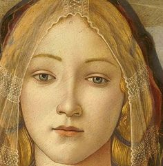 Sandro Botticelli, The Virgin and Child with Saint John and an Angel, 1490, detail