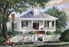 HousePlans.com 137-271 - Straight out of a story book!