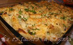 Eu os Tachos e a Cozinha: Pasta de frango gratinada