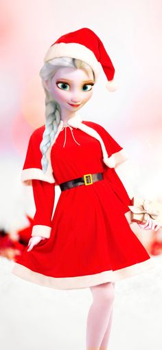 How does Victoria look in this outfit for Christmas?