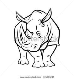 stock-vector-rhinoceros-tattoo-175831205.jpg (435×470)