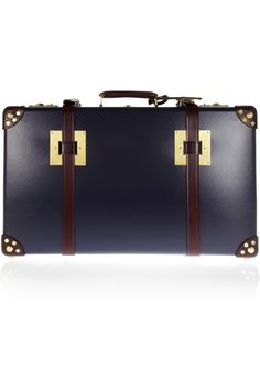 Sophie Hulme|Leather-trimmed suitcase.  I dream of owning a giant trunk/non-wheely suitcase, and traveling by steamship to some far off place where porters in smart uniforms will carry the luggage to wherever it needs to go.... basically, can I be an upstairs person in Downton Abbey?