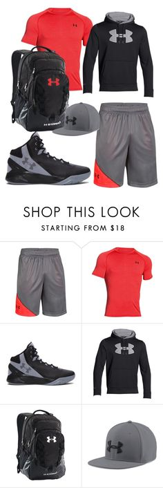 """""""under armour"""" by benjase ❤ liked on Polyvore featuring Under Armour, men's fashion and menswear"""