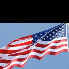 American flag flying over the Arizona