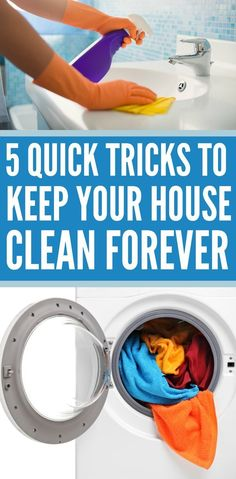 easy housekeeping tips and tricks to keep your house clean! Housecleaning Ideas
