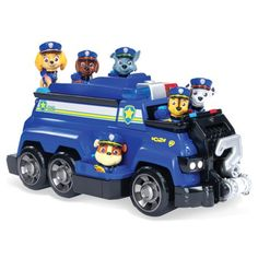 Paw Patrol, Chase's Total Team Rescue Police Cruiser Vehicle with 6 Pups, For Kids Aged 3 & Up: Toys & Games Paw Patrol Pups, Los Paw Patrol, Toddler Toys, Kids Toys, Rescue Vehicles, Police Uniforms, Police Cars, Dog Tags, Monster Trucks