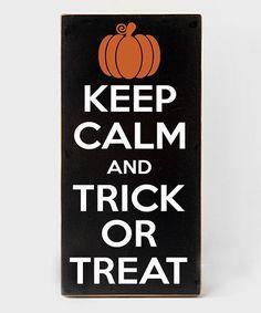 Love this 'Keep Calm' Halloween Wall Sign by Vinyl Crafts on #zulily! #zulilyfinds