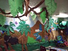 vbs safari | Waterfall/jungle Classroom