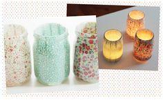 Potes decorados com tecidos 2.