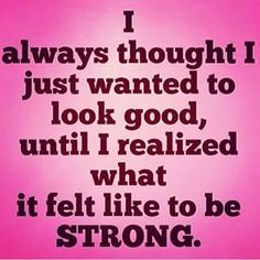 Because feeling STRONG is incredible!! #strong #workouts #motivation
