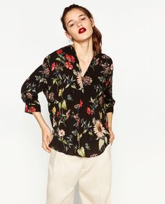PRINTED BLOUSE-View All-TOPS-WOMAN-SALE | ZARA United States