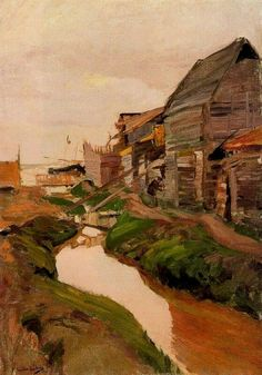 Shipyard, Valencia beach - Joaquin Sorolla y Bastida Spanish Painters, Sale Artwork, Beach Canvas, Landscape Paintings, Expressionist Art, Fine Art, Artwork Painting, Muse Art, Pictures To Paint