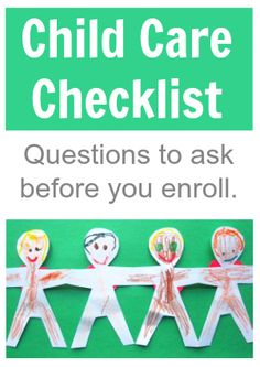 Great list of questions to ask prospective child care providers. Awesome tips for how to pick a day care.