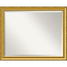 Colonial Embossed Gold 31 x 25 Large Wall Mirror