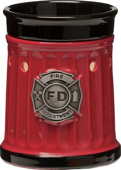 No candles, no flame it's perfect!! Firefighter Scentsy Warmer