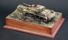 without the diorama having a central object the eye gets lost on the grass,trees .all are needed but a tank,plane,ship ,sub and many more makes it awesome !