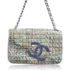Chanel Tweed Flap Shoulder Bag