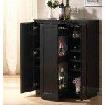 ACME Furniture - Ioanis Black Finish Wine Bar - 97020   SPECIAL PRICE: $605.50