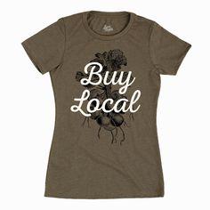 Buy Local Stone Ladies Short Sleeve Tee