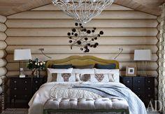 Интерьеры рубленых домов: идеи оформления бревенчатых стен | AD Magazine