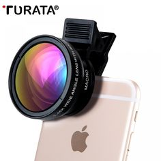 Mobile Phone Lenses Turata Universal 2 in 1 Wide Angle + Macro With Clip HD Camera Lens Kit For iPhone Samsung Sony Mobile Phones, Sony Phone, Smartphone, Phone Lens, Camera Lens, Mobile Lens, Camera Angle, Camera Phone, Iphone 8
