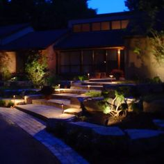 DIY Landscape & Garden Lighting Ideas. Check out my profile for more great examples #yyc #victoriabc #landscapelighting #gardenlighting